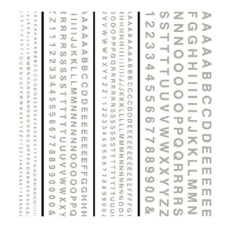 Dry Transfer Decals Railroad Gothic Letters White, Includes highly-detailed pieces. By Woodland Scenics