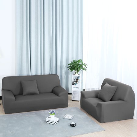 Stretch Chair Sofa Covers 1 2 3 4 Seater Gray Sofa-4seater - image 4 of 8