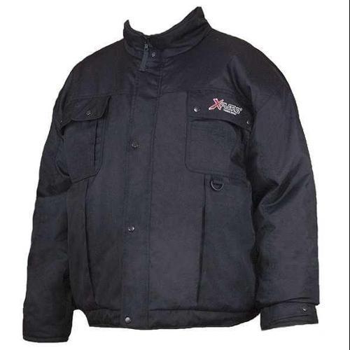 XPLORO FW004-420 Bomber Jacket, Insulated, Black, L
