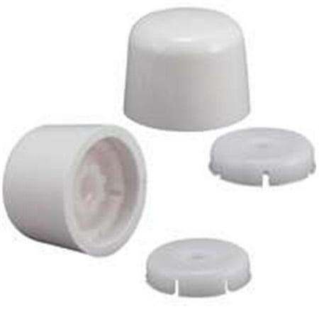 TOILET BOLT CAPS WHITE - Plastic Toilet Bolt
