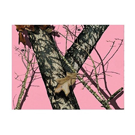 Pink Mossy Oak Camo Edible cake image Topper Decoration