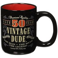Laid Back CF11015 50th BD Vintage Dude Coffee Mug, 14-Ounce