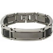 Men's Titanium Carbon Fiber Link Bracelet, 8.5