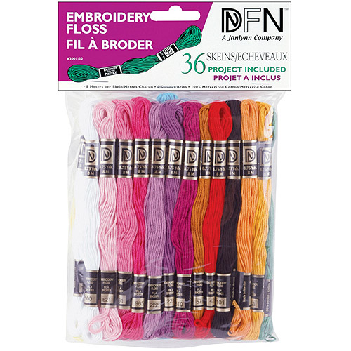Janlynn Cotton Embroidery Floss, Pastel Colors, 36/pkg