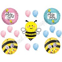 What Will It BEE?? Baby Shower Gender Reveal Party Balloons Decorations Supplies, What Will It BEE Baby Shower Balloon Decorations Supplies By Anagram