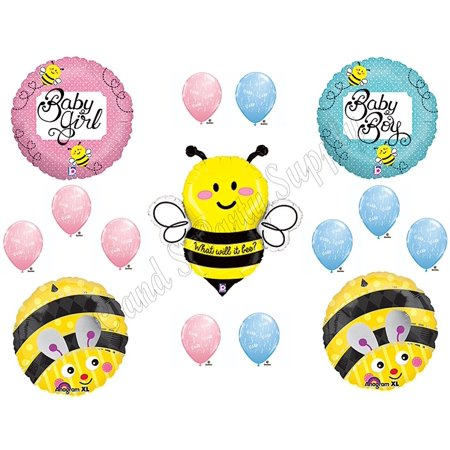 What Will It BEE?? Baby Shower Gender Reveal Party Balloons Decorations Supplies, What Will It BEE Baby Shower Balloon Decorations Supplies By Anagram - Baby Gender Reveal Party Supplies