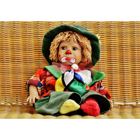 LAMINATED POSTER Sweet Doll Funny Sad Colorful Clown Toys Poster Print 24 x 36 - Billy The Clown Saw