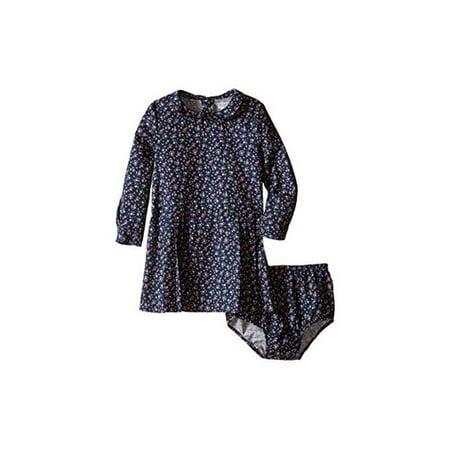 Ralph Lauren Baby Girls' Floral Twill Dress & Bloomer- Navy/Pink Multi (12 Mo...
