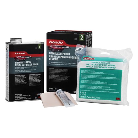 3M 422 Fiberglass Resin & Repair Kit, .9 Quart Fiberglass Body Filler