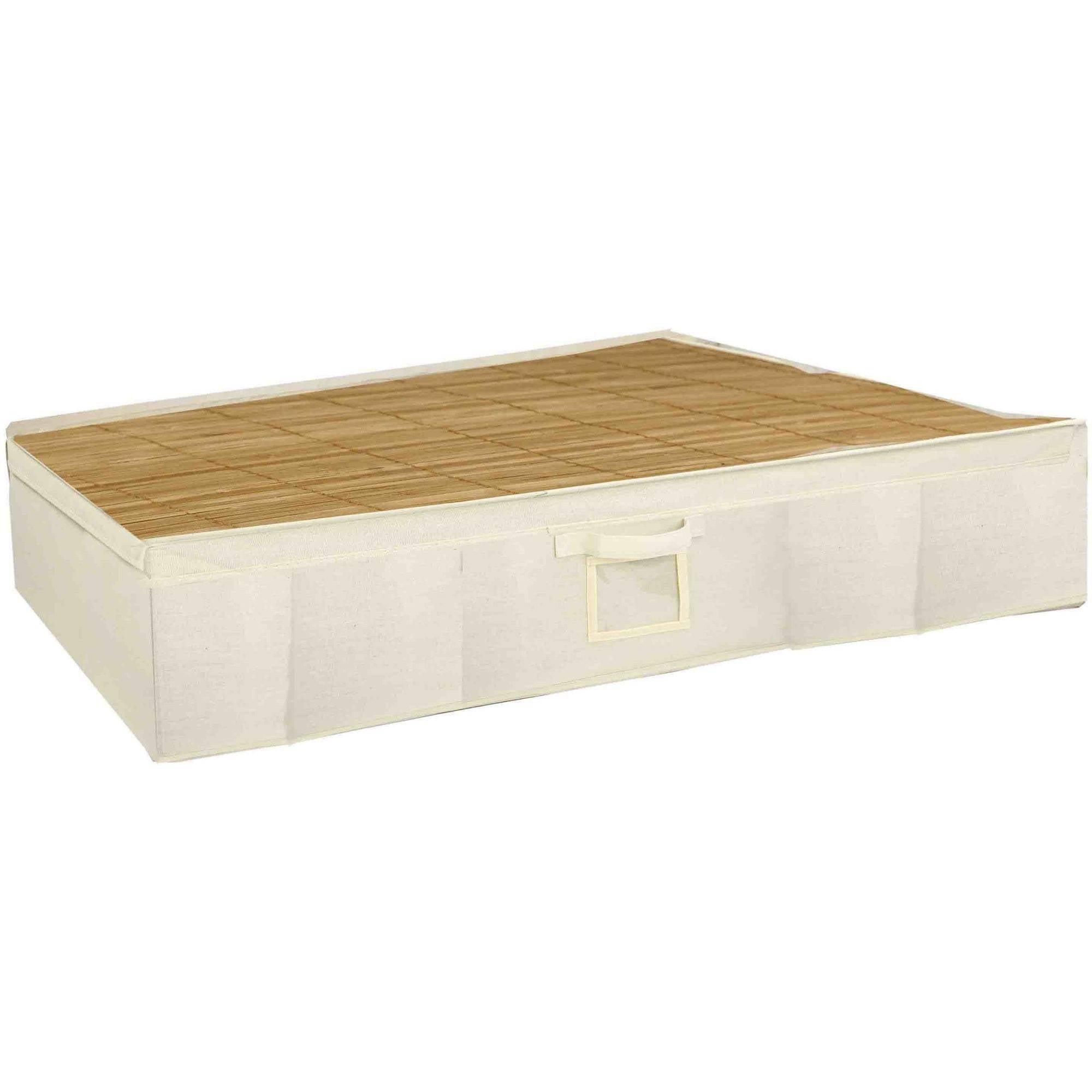 home basics under-the-bed bamboo storage box - walmart