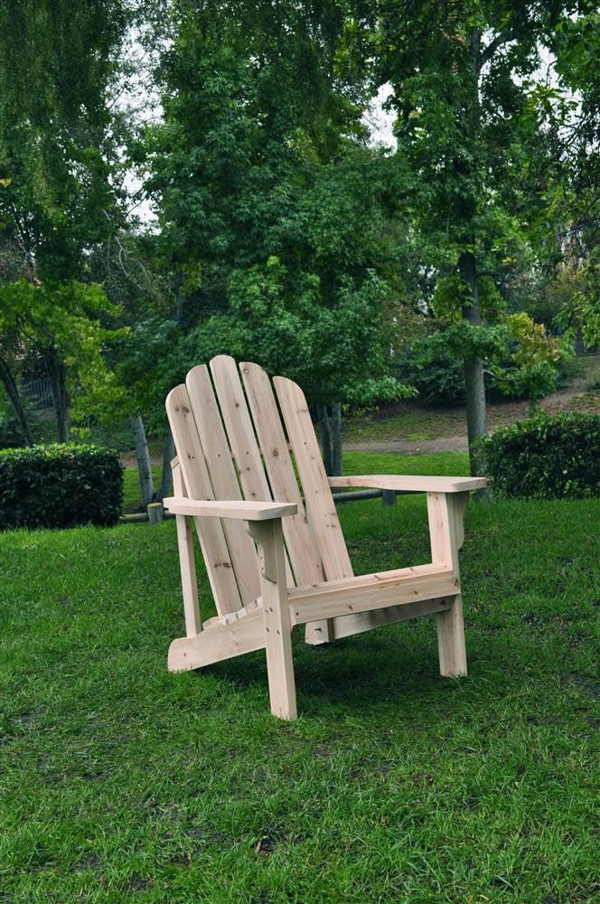Marina Adirondack Chair Natural by Shine Company