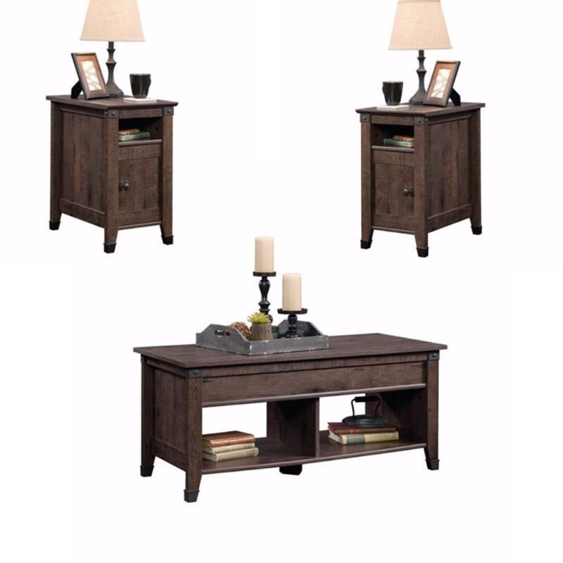 Pleasant Rustic 3 Piece Coffee Table And End Table Sets In Oak Brown Walmart Com Pabps2019 Chair Design Images Pabps2019Com