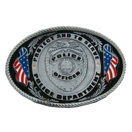 Police Officer To serve and Protect Novelty Belt (Officer Buckle)