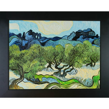 Wildon Home Olive Trees with the Alpilles in the Background by Vincent Van Gogh Framed Painting