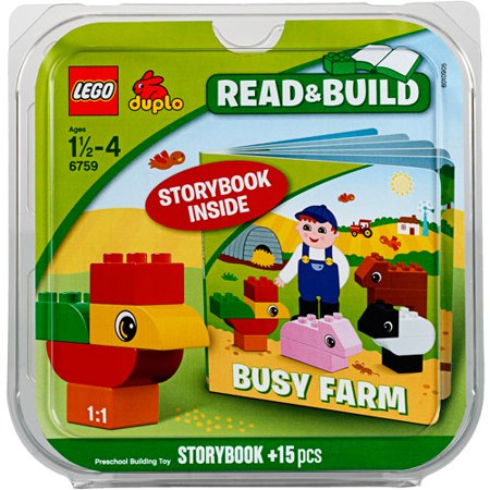LEGO DUPLO Busy Farm Bricks and Books Set