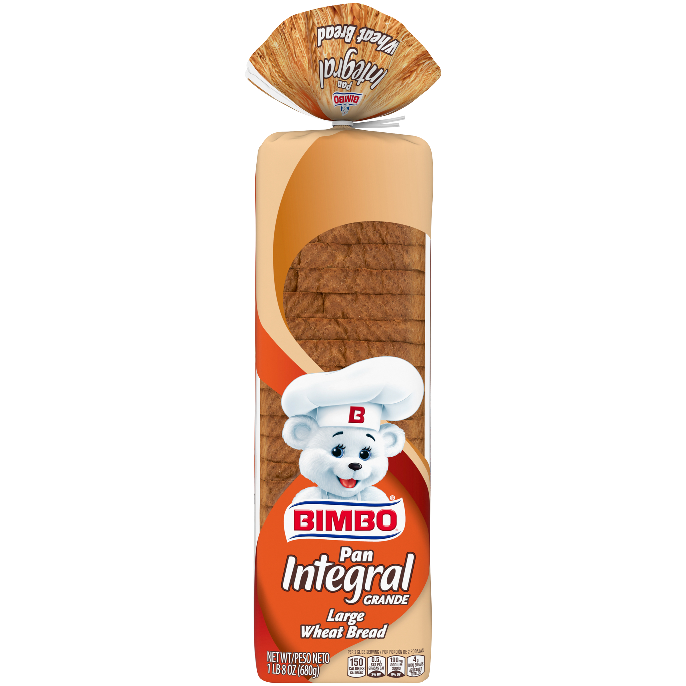 Bimbo Pan Integral Grande Large Wheat Bread, 24 oz