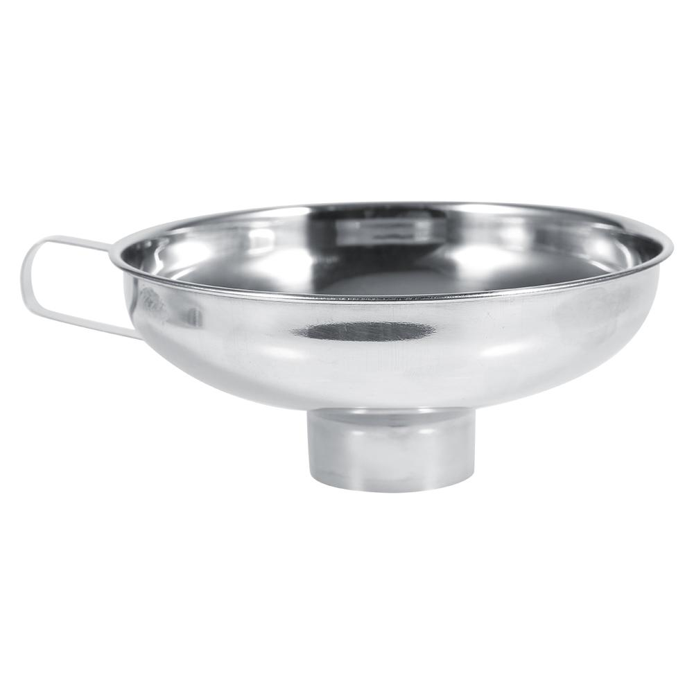 Small Large Wide Mouth Funnel With Handle Stainless Steel Canning Jars Funnel
