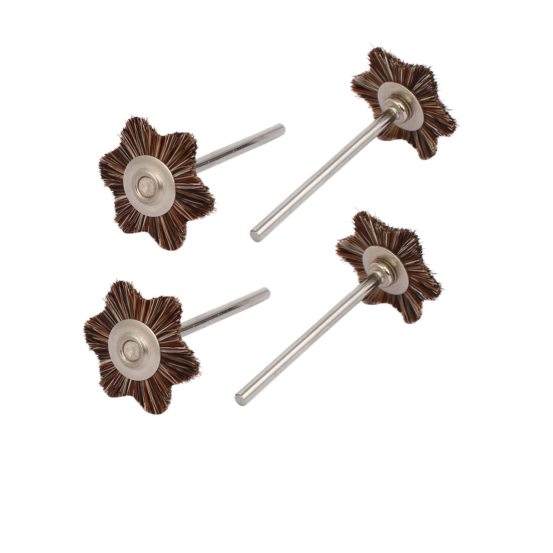 2.35mm Dia Shank Star Shaped Head Horse Hair Polishing Brushes 4pcs