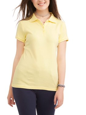 Wonder Nation Juniors' School Uniform Short Sleeve Interlock Polo