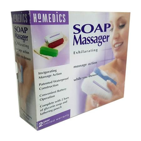 Homedics Body Soap Massager Battery Operated Waterproof