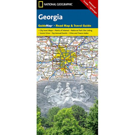 Georgia Satellite Map (National geographic guidemaps: georgia - folded map: 9781597754163)