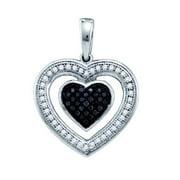Gold and Diamonds PH2623A-W 0.20CT-DIA MICRO-PAVE HEART PENDANT- Size 7