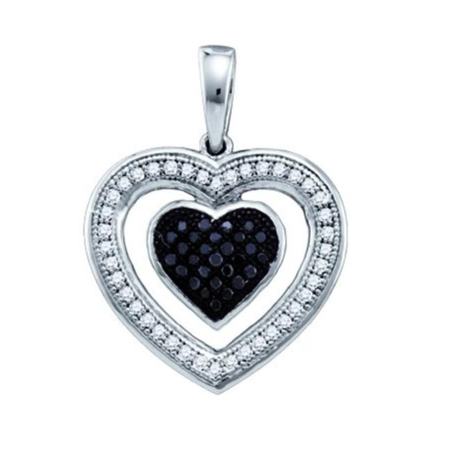 Gold and Diamonds PH2623A-W 0. 20CT-DIA MICRO-PAVE HEART PENDANT- Size 7