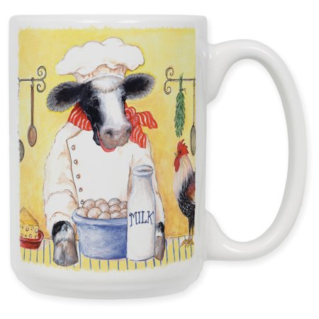 15 Ounce Ceramic Coffee Mug - Cow (Crow Coffee)