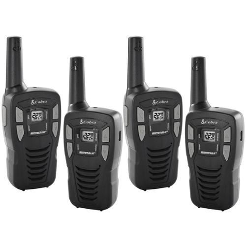 (4) Cobra CX112 16 Mile 22 Channel FRS/GMRS Walkie Talkie Two-Way Radios