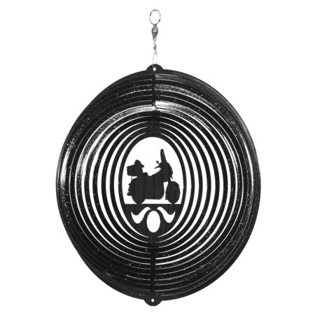 SWEN Products FULL DRESSED MOTORCYCLE HARLEY Swirly Metal Wind