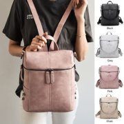 Women Fashion Shoulder Bags Backpacks Simple PU Leather Backpack Travel Handbag Rucksack Bag