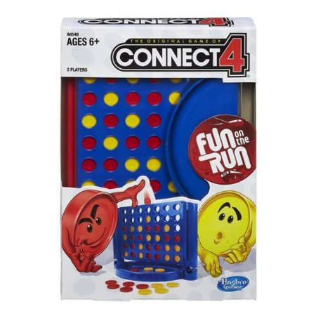 Connect 4 Fun On The Run Game Travel Edition, Classic,travel games,connect four / captain's mistress,abstract strategy,special apparatus games,family games,2-player.., By - Fun Games For 4 Year Olds