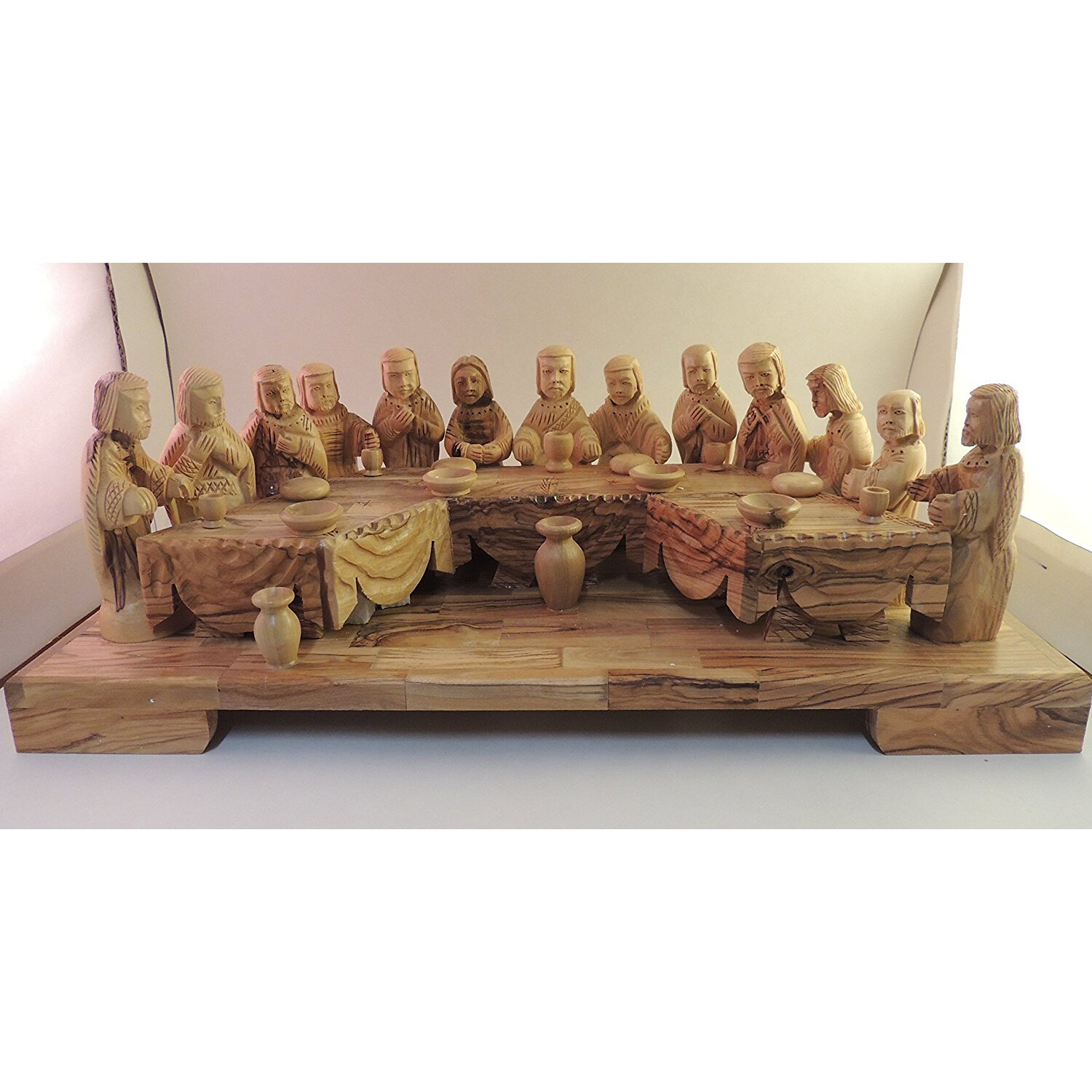 Amazon hand carved olive wood last supper home kitchen