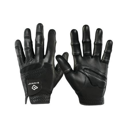 Men's StableGrip with NaturalFit Golf Glove Left Black Cadet Large
