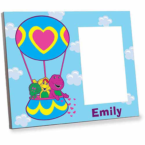 Personalized Barney Hot Air Balloon Ride Picture Frame