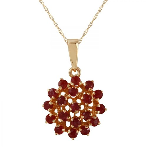 Foreli 0.95CTW Ruby 14K Yellow Gold Necklace by Generic