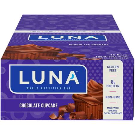 Luna Bar, Chocolate Cupcake, 1.69 Oz, 15 Ct, Gluten Free Bar