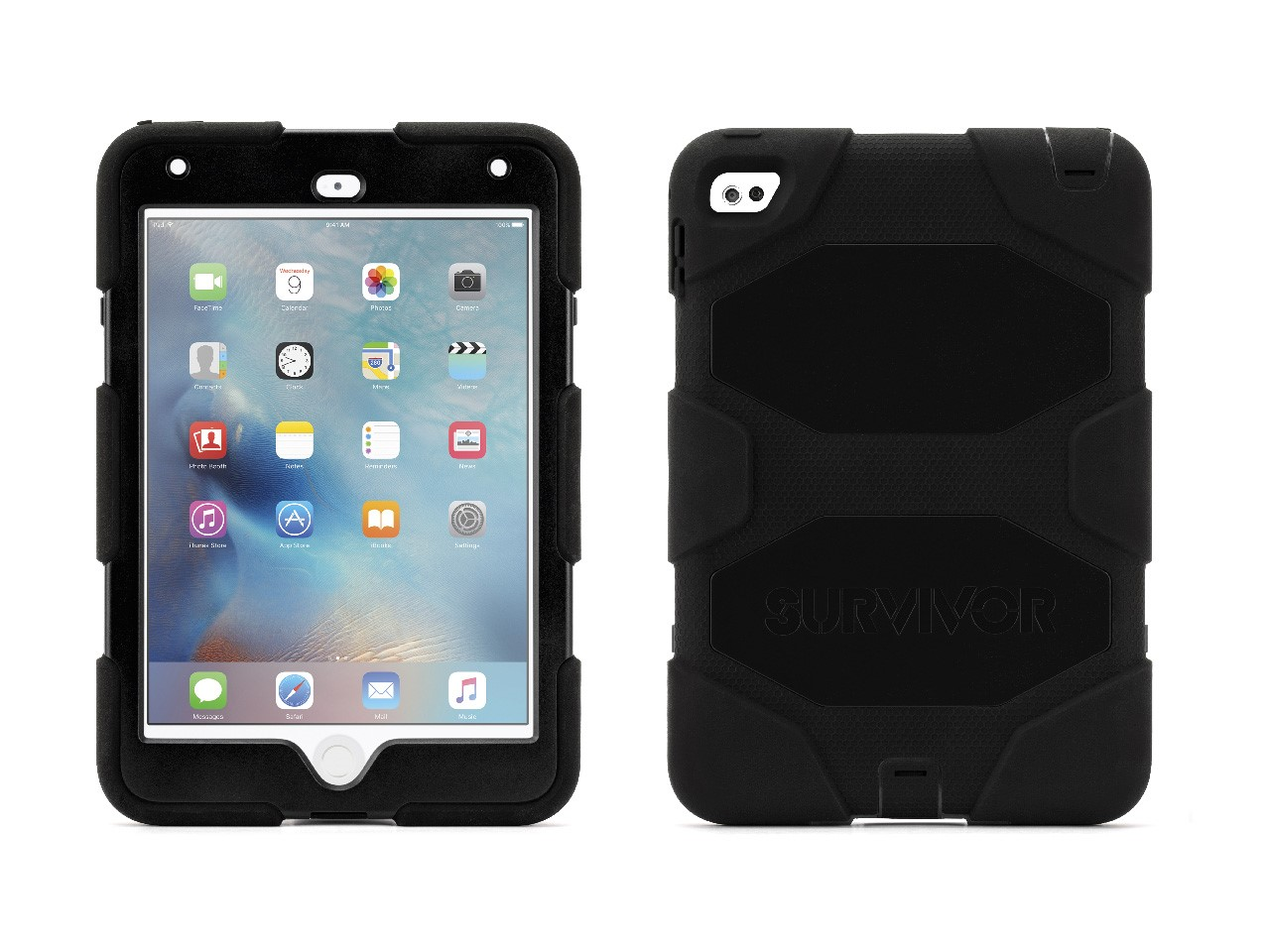 Griffin iPad mini 4 Case with Stand, Black Survivor All-Terrain, [Rugged] [Protective] [Dual Layer] [Heavy Duty] [Shock... by Griffin Technology