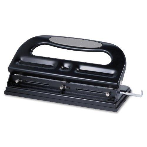"Business Source Manual Hole Punch - 3 Punch Head[s] - 40 Sheet Capacity - 9/32"" - Black (BSN62897)"