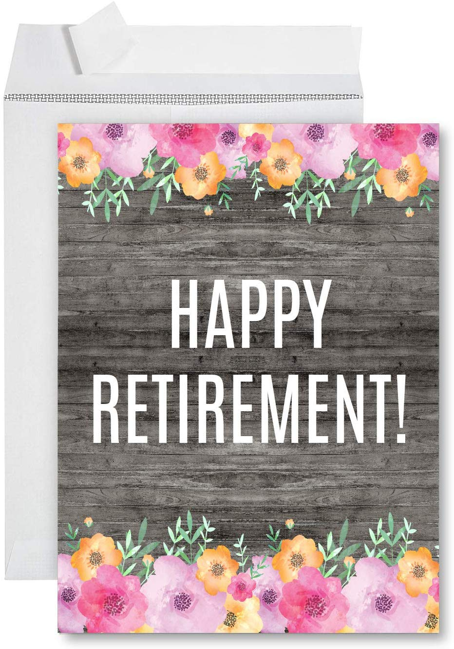 andaz press funny jumbo retirement card with envelope 85
