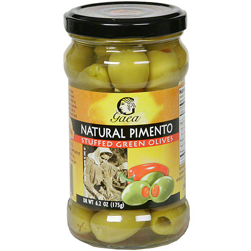 Gaea Natural Pimento Stuffed Green Olives, 10.4 oz (Pack of 8)