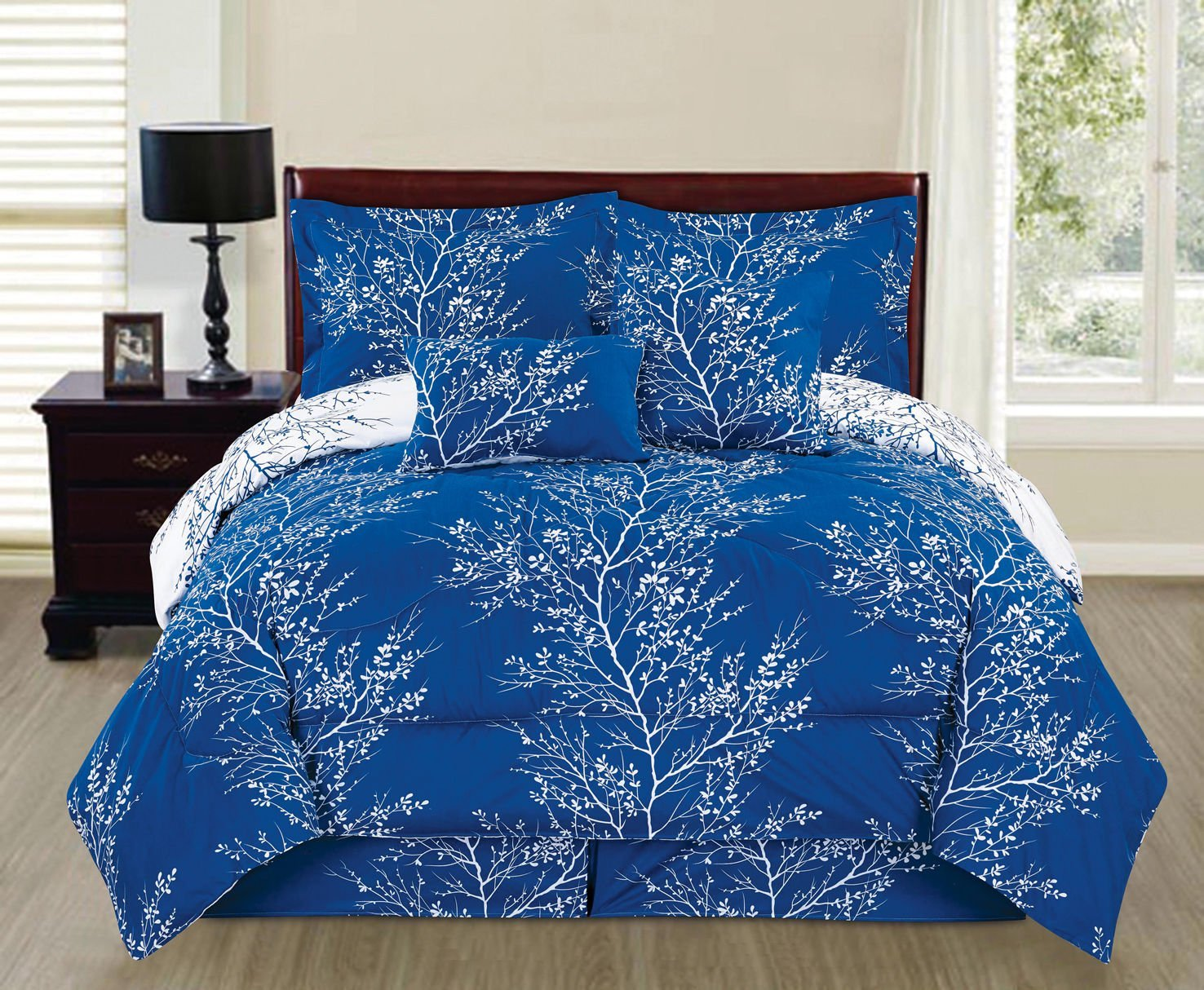 Natural Green 6 piece Branches Reversible Printed Soft ...