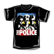 Police Men's  Sunglasses With Paint T-shirt Black
