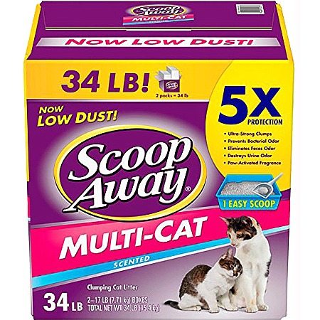 Scoop Away Multi-Cat Scented Scoopable Cat Litter