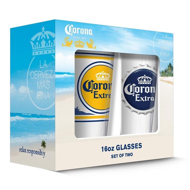 Corona 190443000665 Extra Labels Pub Glass - Set of 2 - image 1 of 1
