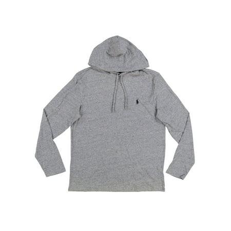 712dd5a33 Polo Ralph Lauren - Polo Ralph Lauren Mens Hooded Jersey T-Shirt (Medium,  Grey Heather) - Walmart.com