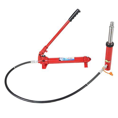 GHP 10-Ton Capacity Hydraulic Jack Hand Pump with 10-Ton Capacity Hydraulic Jack Ram