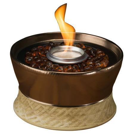 TIKI® Brand 7-inch Clean Burn Ceramic Tabletop Firepiece Torch Bronze