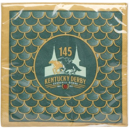 Kentucky Derby 145 24-Pack Beverage Napkins - No Size - Kentucky Derby Party Decorations
