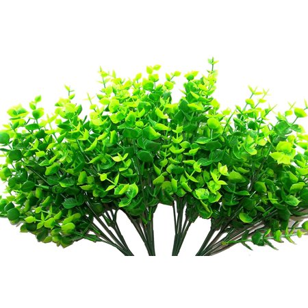 Artificial Eucalyptus 14 Quot Plastic Shrubs Of Green Amp